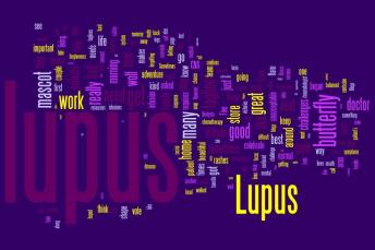 Wordle Word Cloud for Lupus Adventure Between the Lines