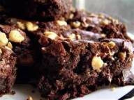 brownie with walnuts