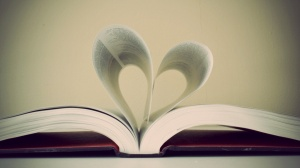 Heart pages of book