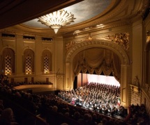 San Francisco Symphony at old War Memorial Opera House on Van Buren St.