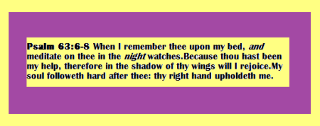 Psalm 63 6-8 Yellow & Purple Pix