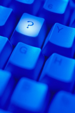 Question Mark Key on Computer Keyboard