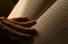 Hands Holding Book Reading